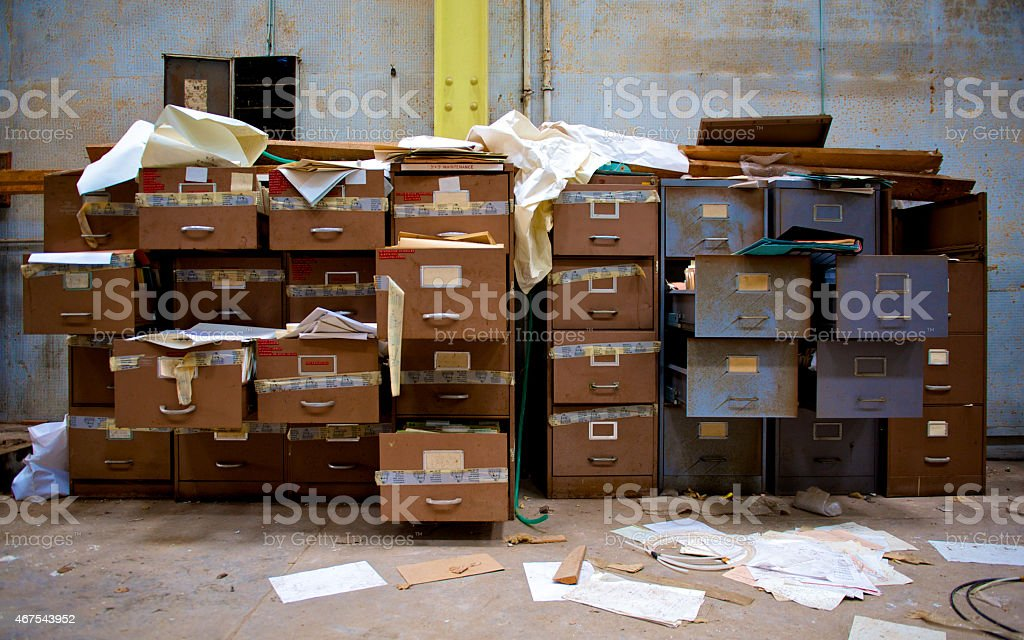 Filing Cabinets stock photo