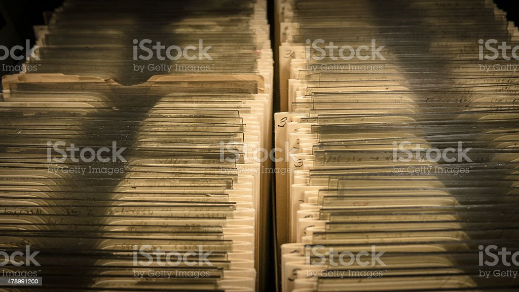 Filing Cards stock photo