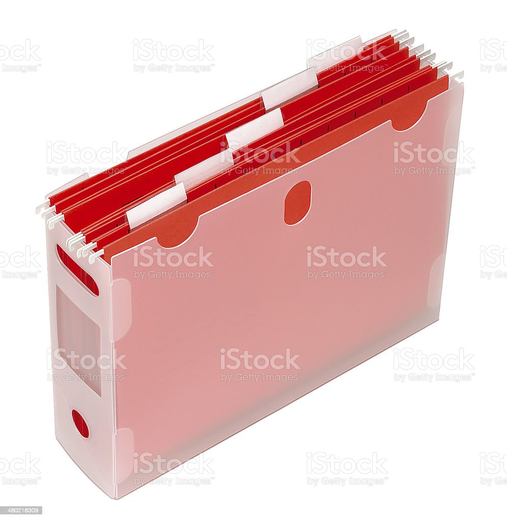Filing folder stock photo