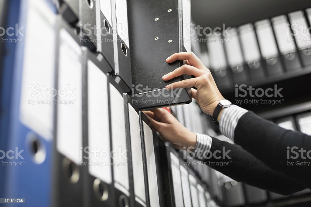 Filing Folders in Archive royalty-free stock photo