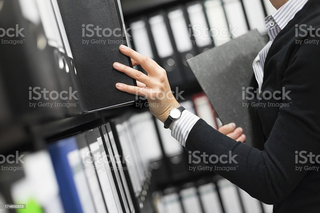 Filing Folders in Archive stock photo
