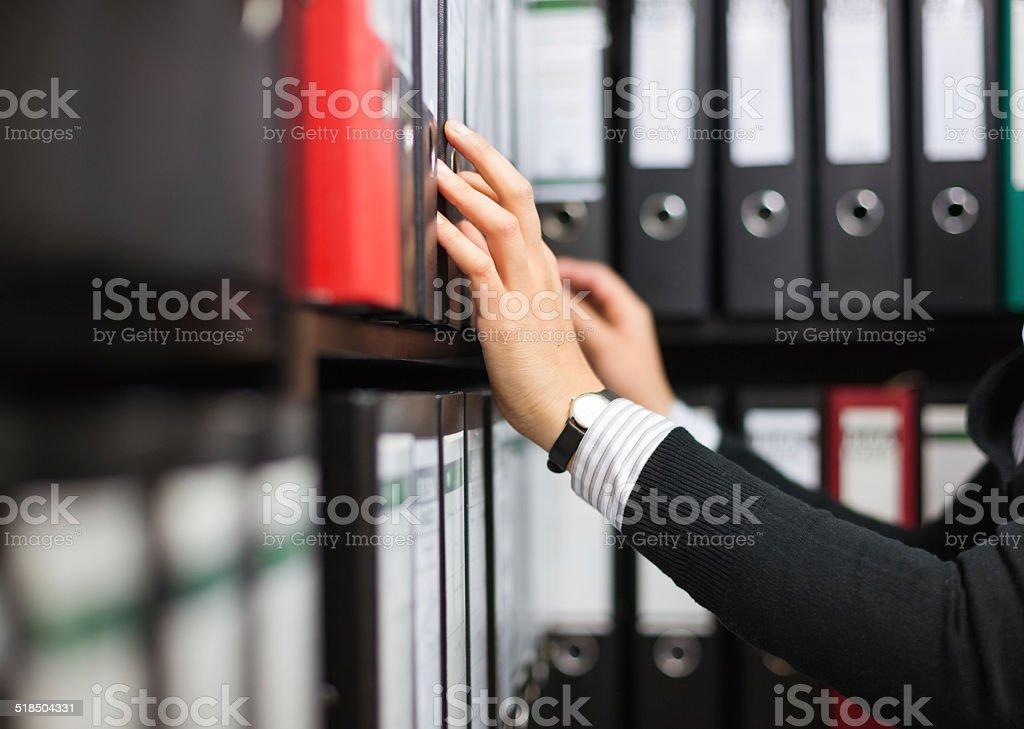Filing Folders in Archive stock photo