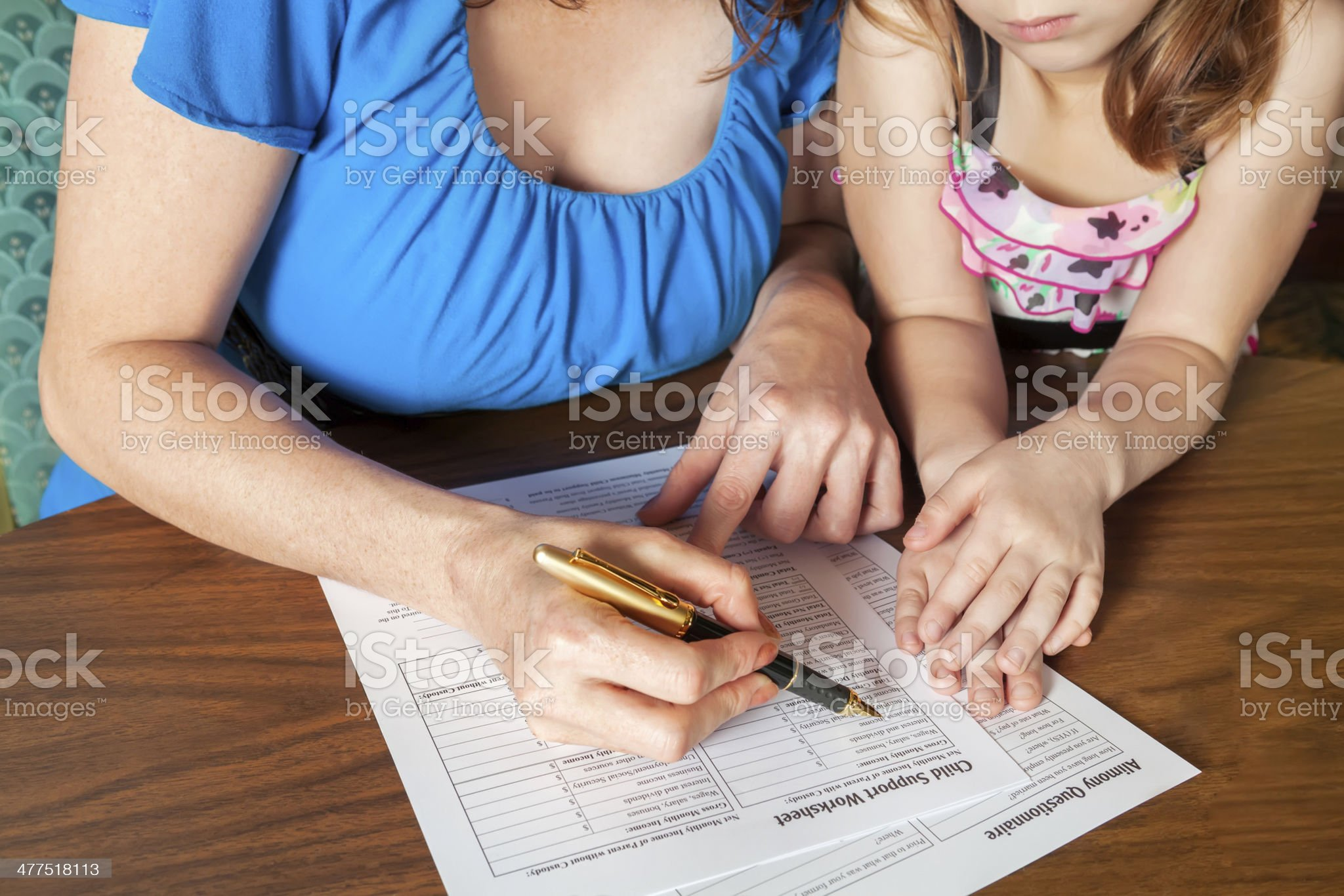Filing out divorce forms royalty-free stock photo