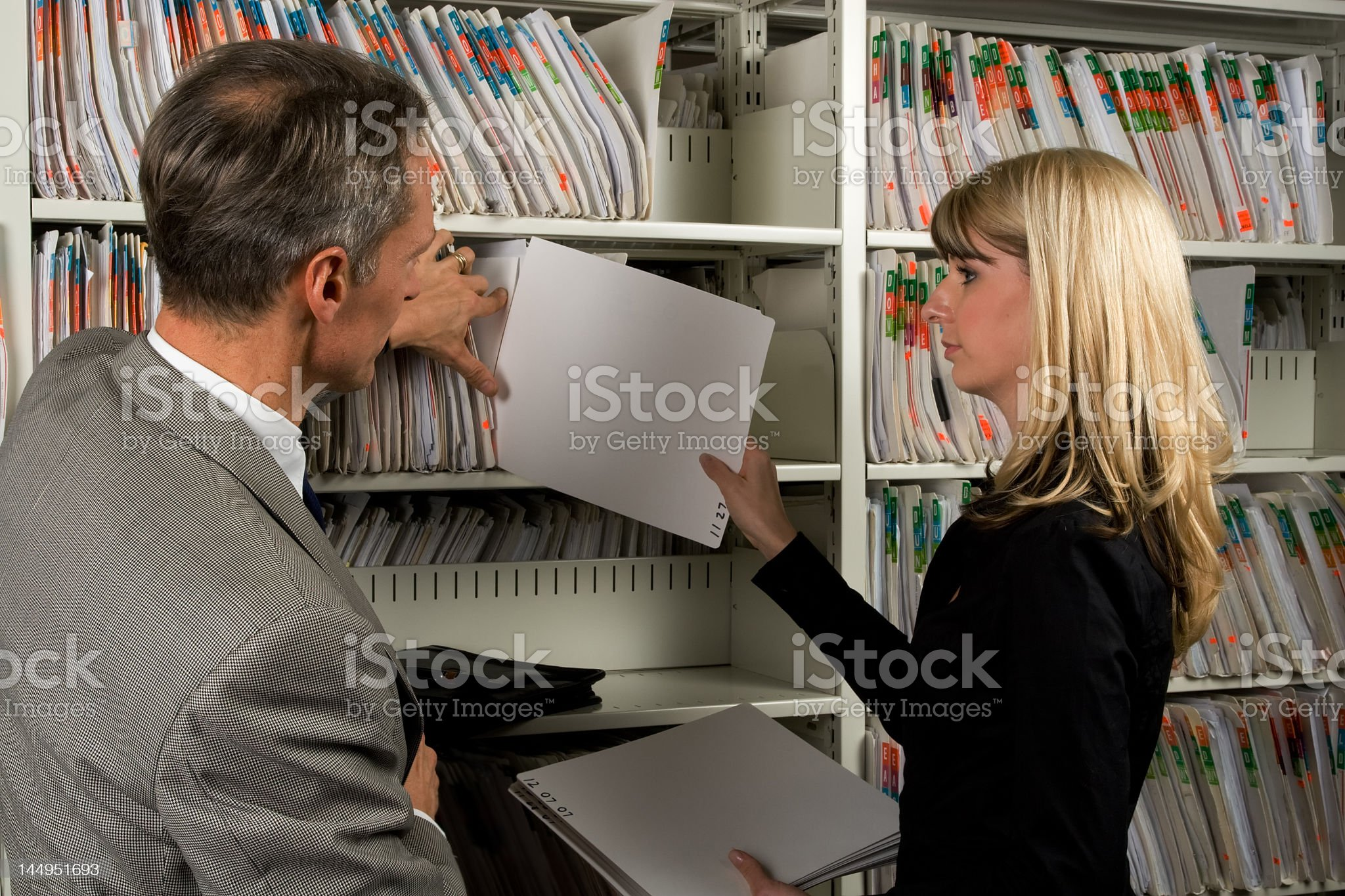 Filing royalty-free stock photo