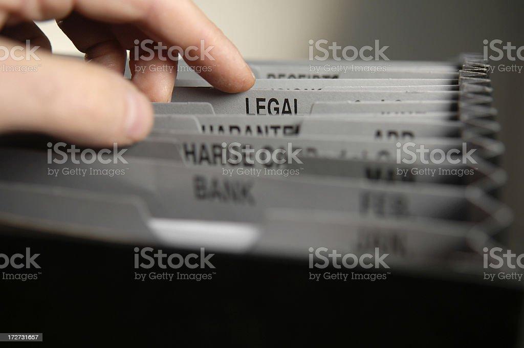 filing series royalty-free stock photo