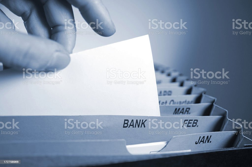 filing series royalty-free stock photo