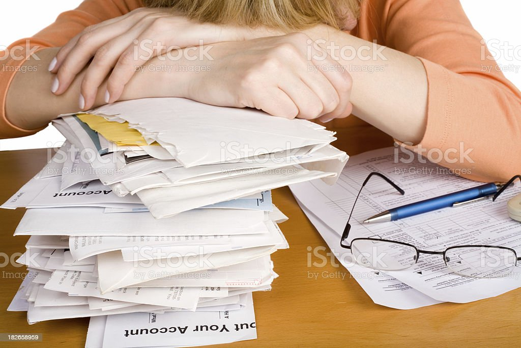 Filing tax return forms royalty-free stock photo