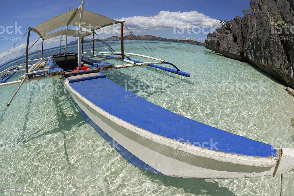 Filipino beach stock photo