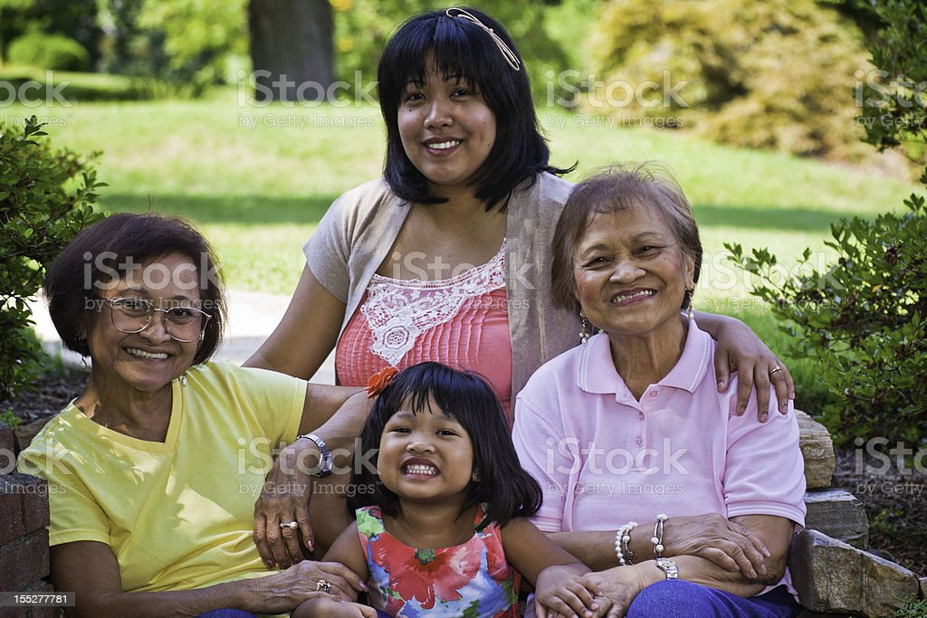 Filipino Family royalty-free stock photo
