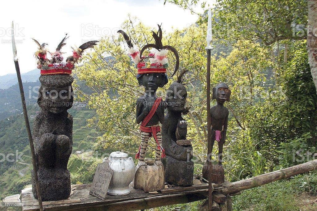 Filippino Ifugao tribale e tessuto in legno artigianato foto stock royalty-free