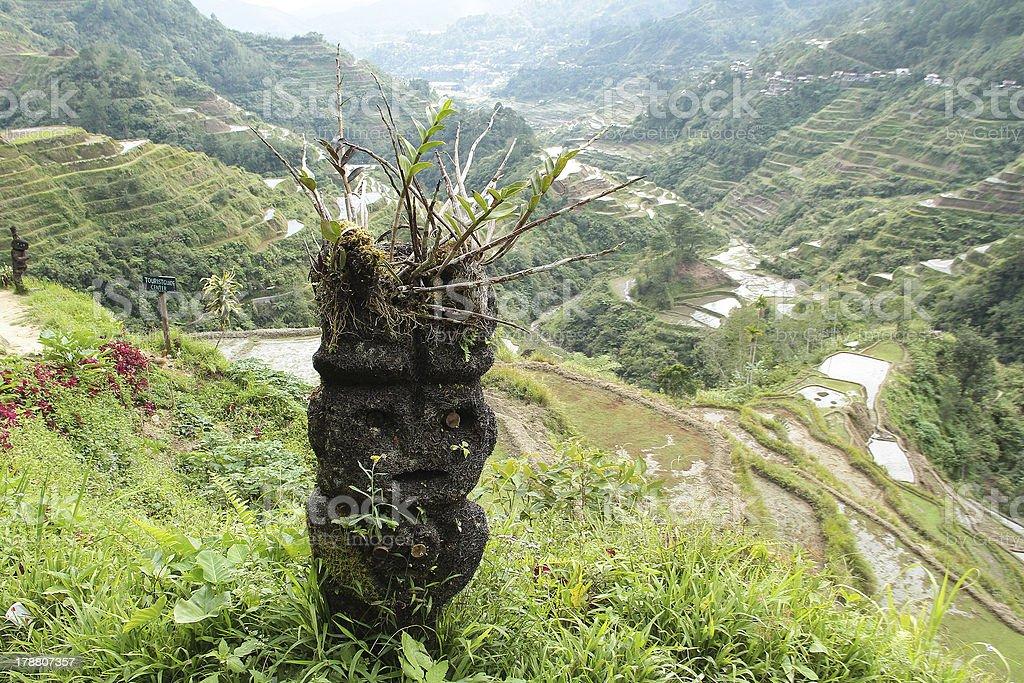 Filippino Ifugao tribale artigianato in legno foto stock royalty-free