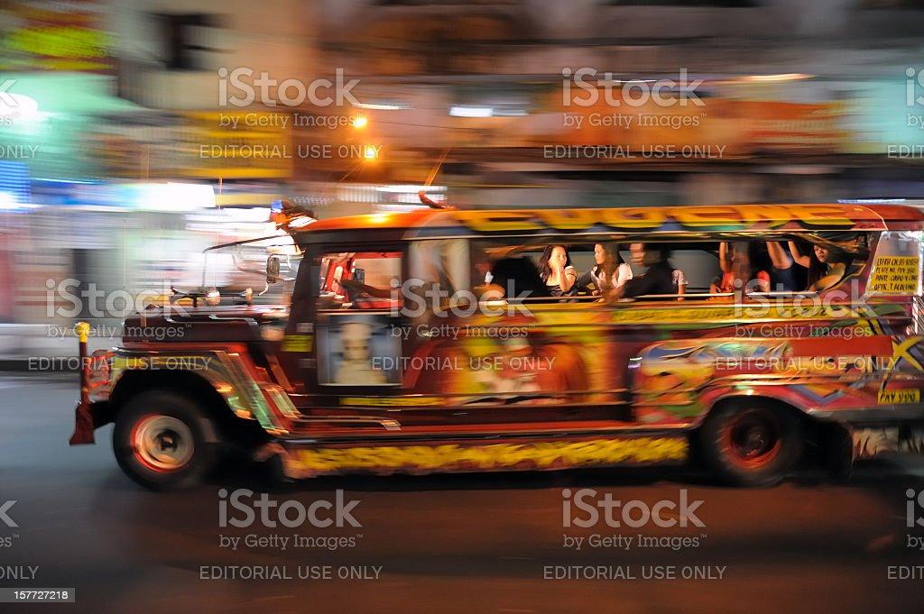 Filipino jeepney stock photo