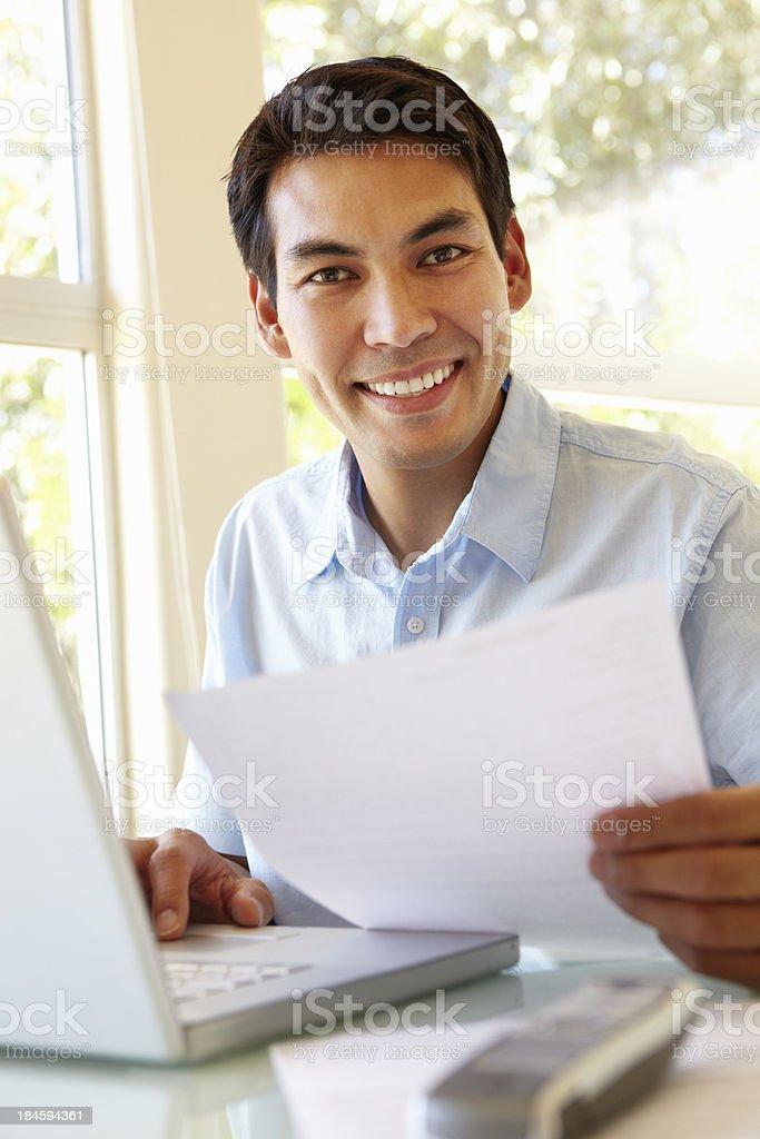 Filipino man working at home royalty-free stock photo