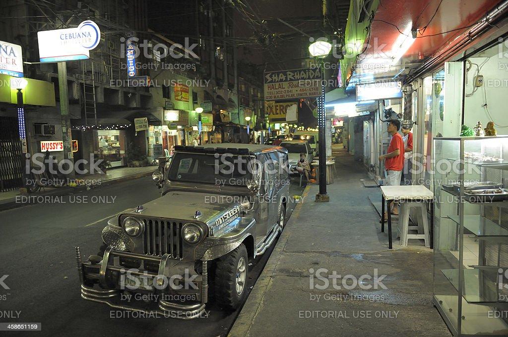 Filipino street by night royalty-free stock photo