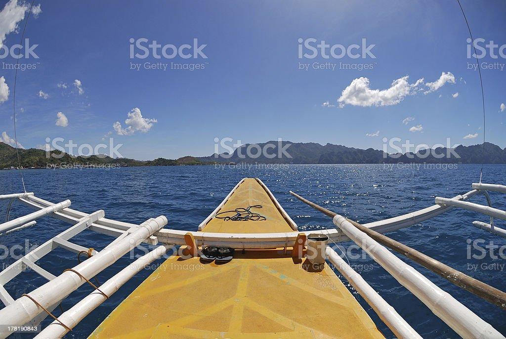Filipino traditional boat stock photo