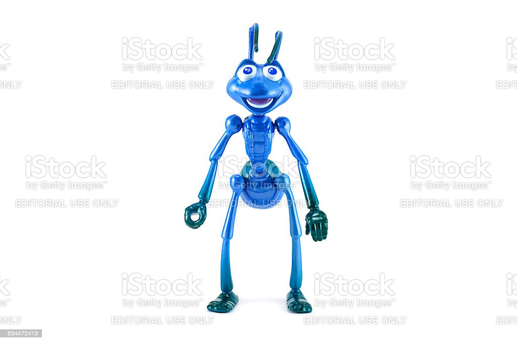 Filk in war suite character form bug's life stock photo