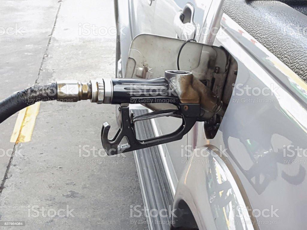 Fill diesel gas stock photo