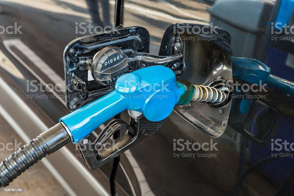 Fill fuel stock photo