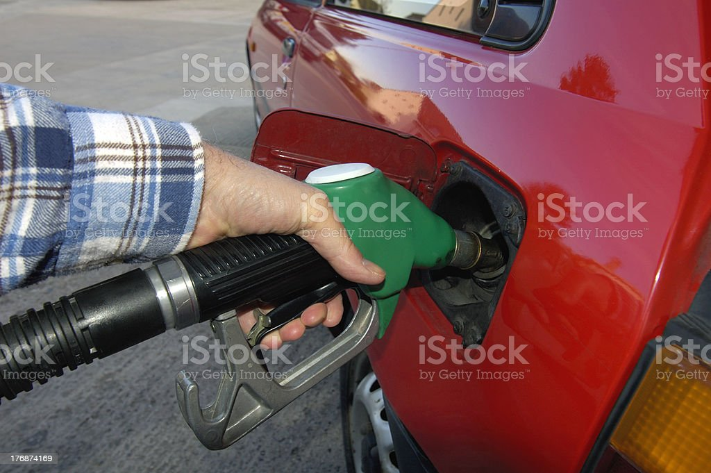 Fill her up! royalty-free stock photo
