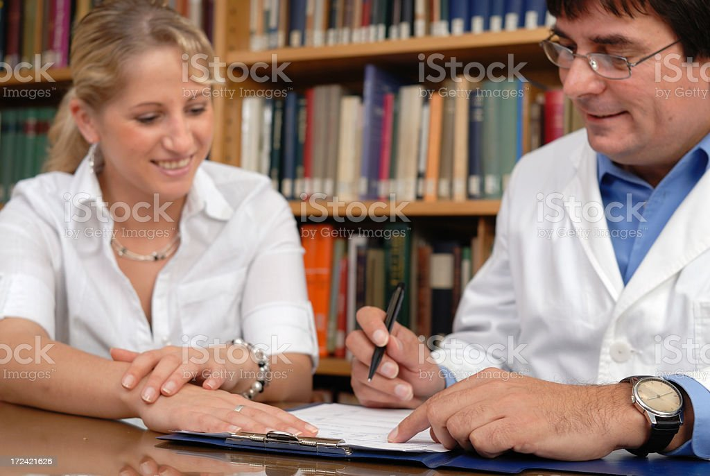 Fill out a form royalty-free stock photo