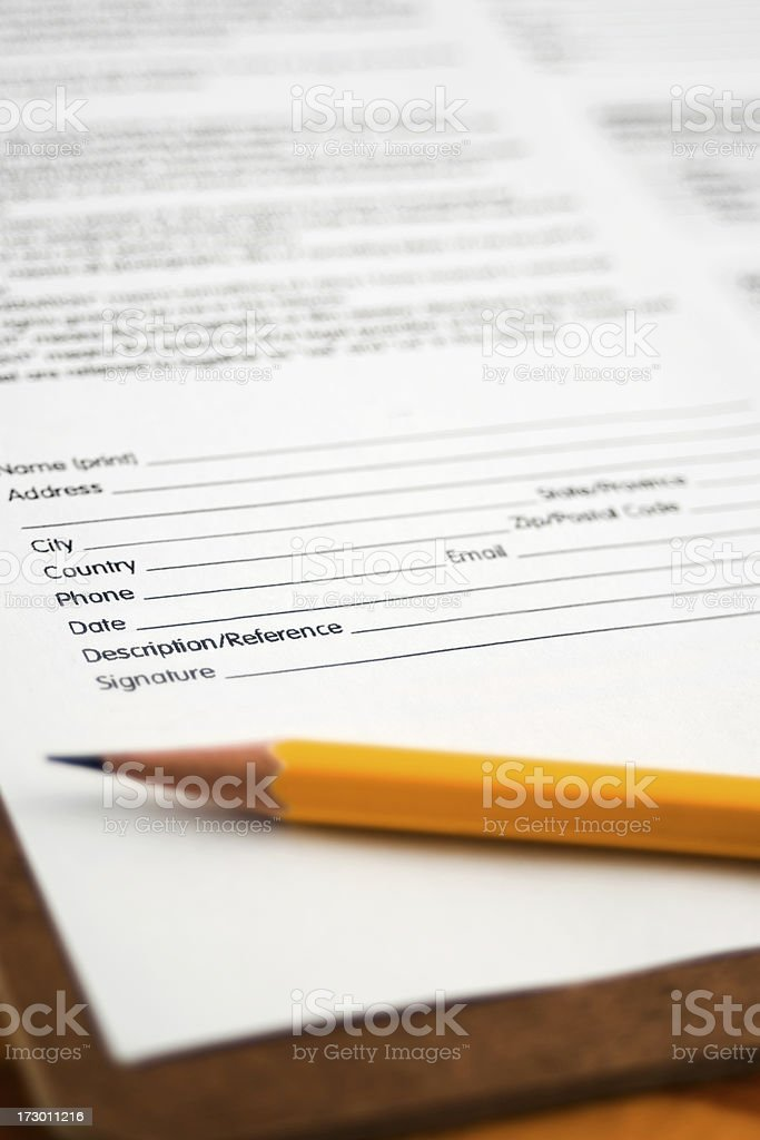 Fill the form royalty-free stock photo