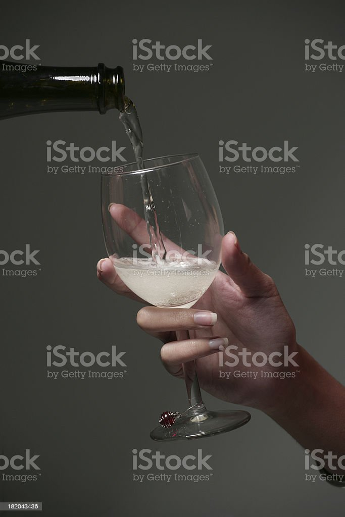 Fill the glass royalty-free stock photo