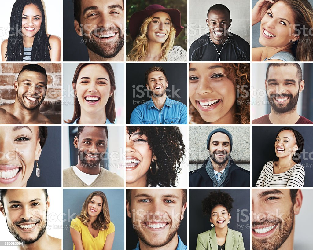 Fill the world with smiles stock photo