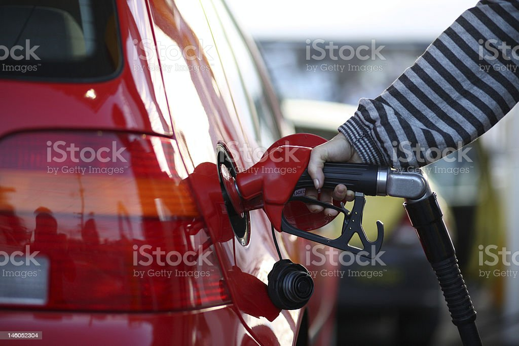 Fill up at the bowser royalty-free stock photo
