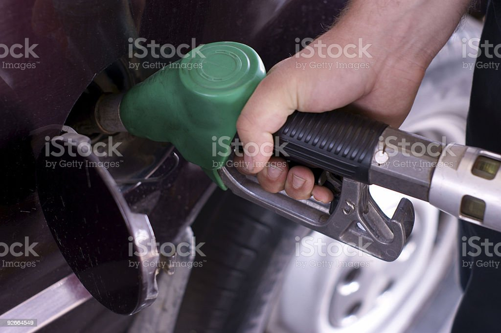 fill up of gasoline stock photo