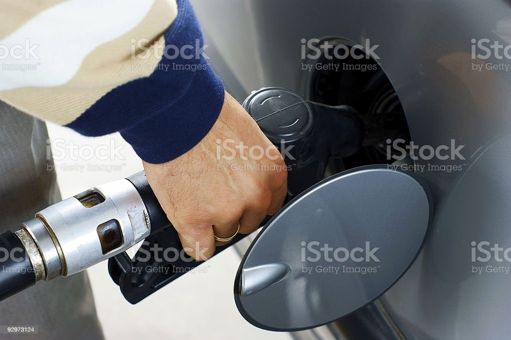 fill up of gasoline. stock photo