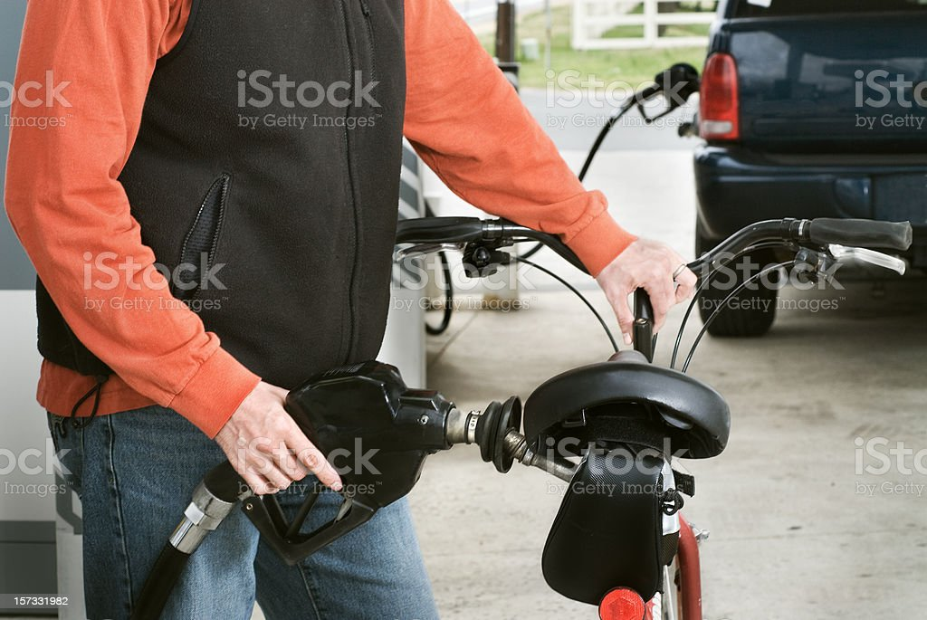 Fill Up stock photo