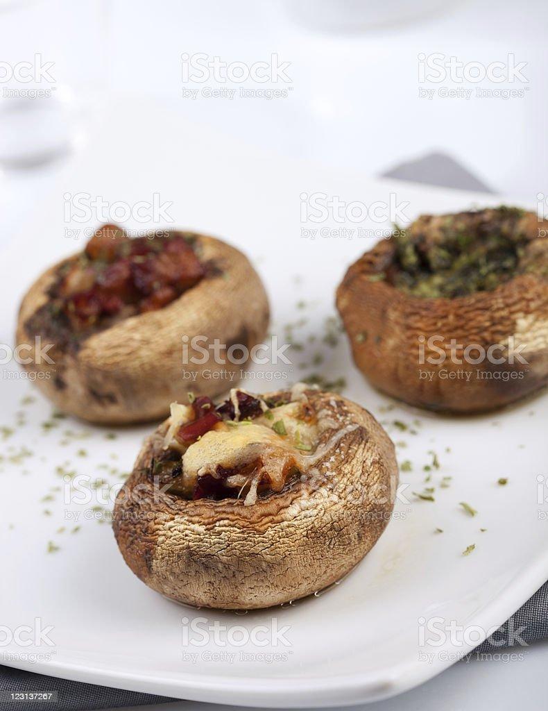 Filled mushrooms royalty-free stock photo