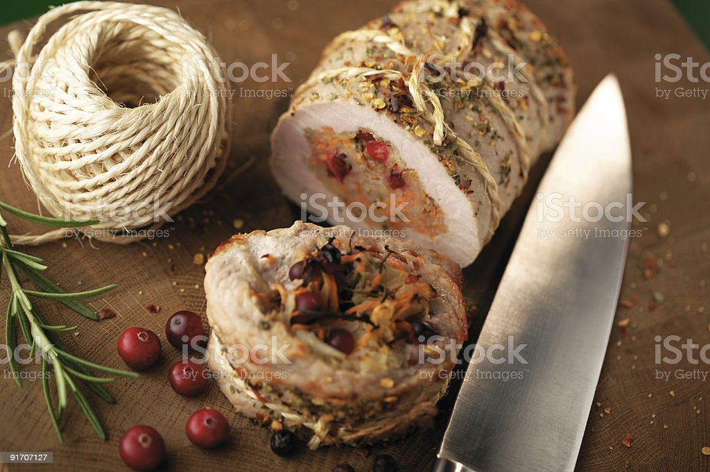 Filled pork royalty-free stock photo