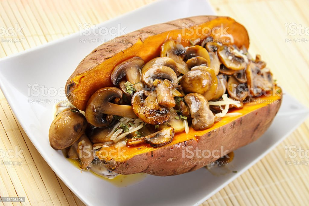 Filled sweet potato royalty-free stock photo