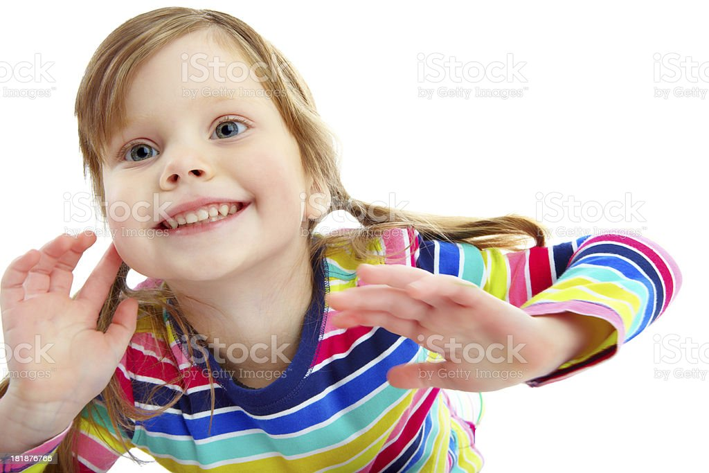 Filled with childhood energy royalty-free stock photo