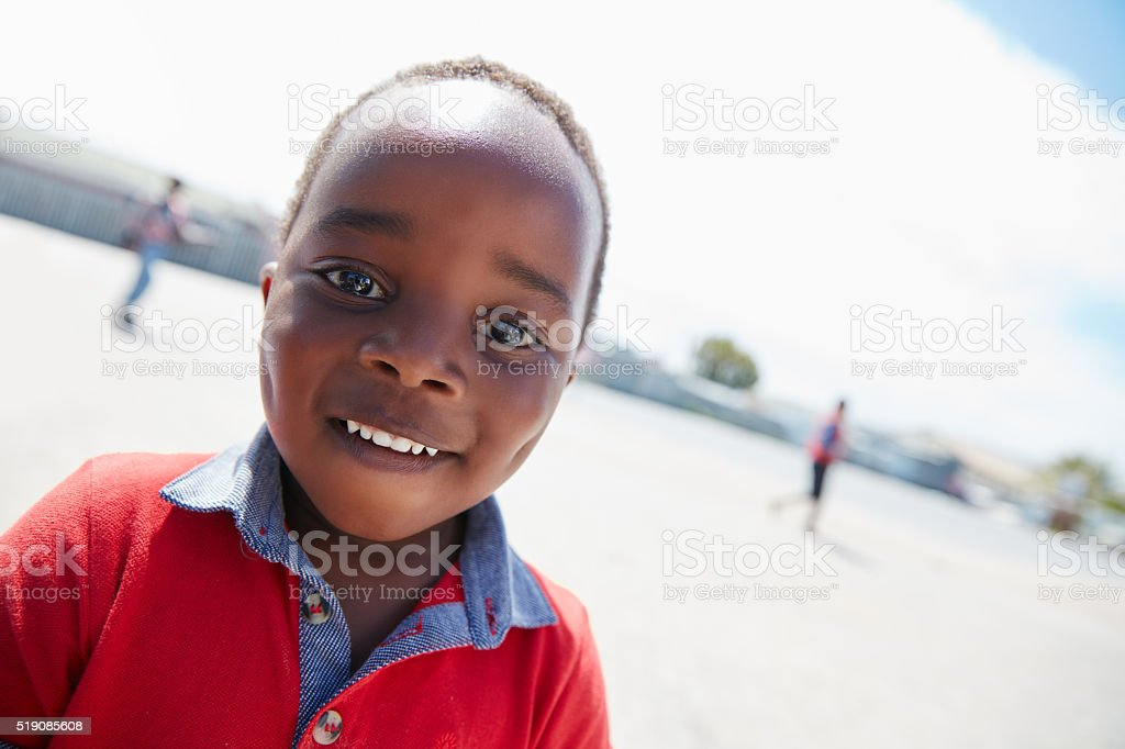 Filled with happiness and hope stock photo
