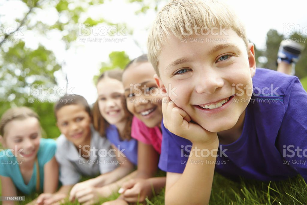 Filled with innocence and potential royalty-free stock photo