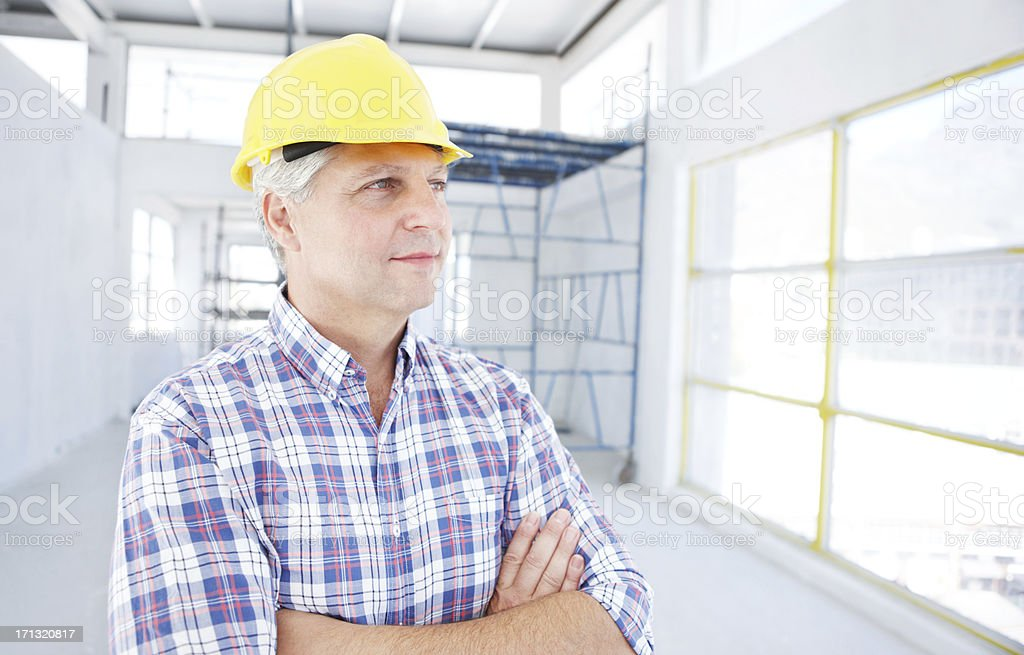 Filled with job satisfaction royalty-free stock photo