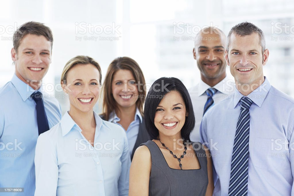 Filled with positive corporate aspirations royalty-free stock photo