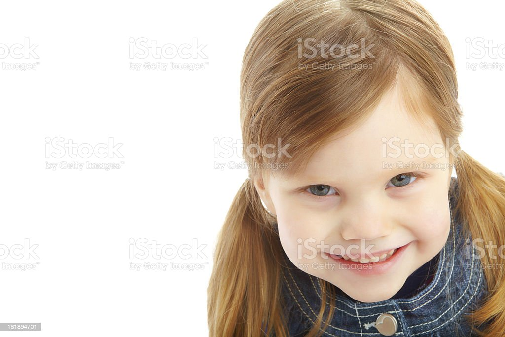 Filled with positivity and innocence royalty-free stock photo