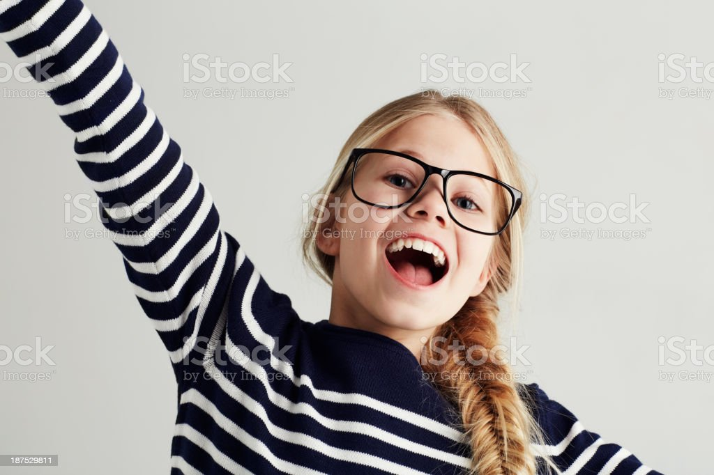 Filled with youthful optimism stock photo