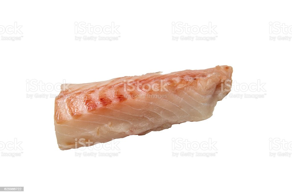Fillet (Loin) cod isolated. stock photo
