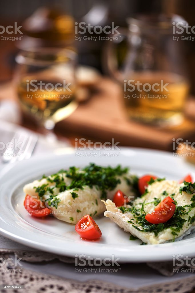 Fillet of cod stock photo