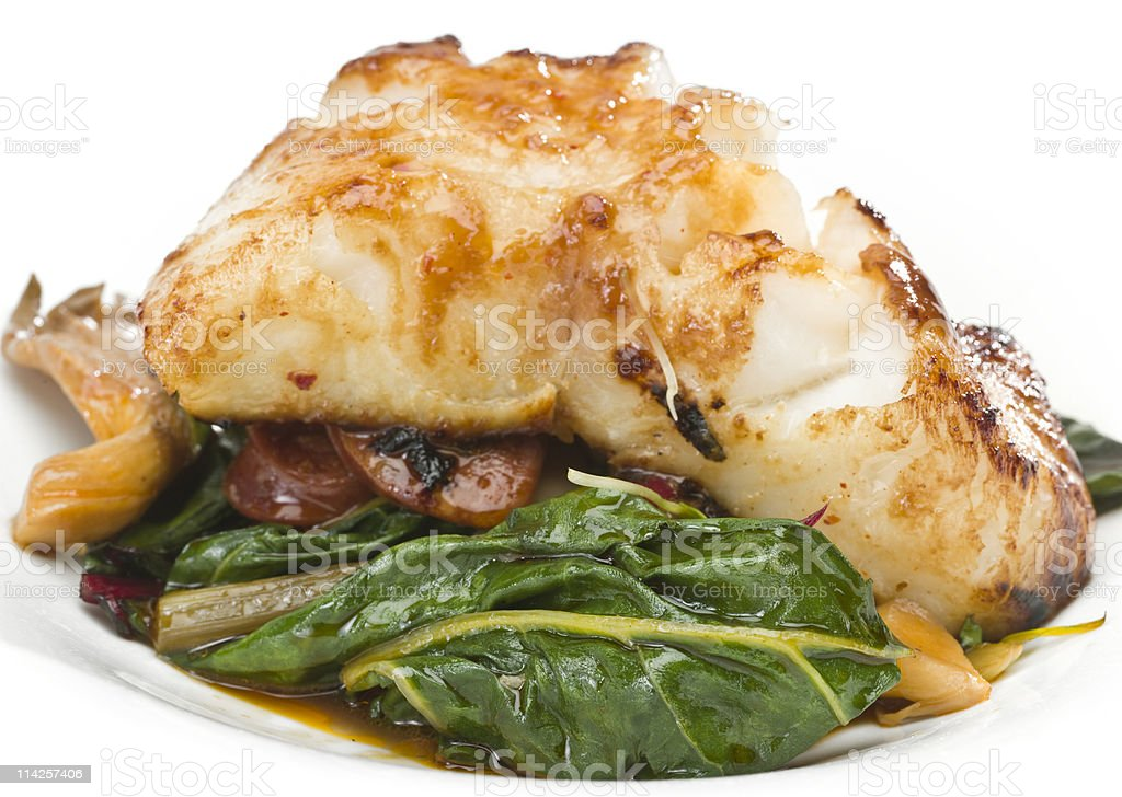 Fillet of Fish in Miso Sauce royalty-free stock photo