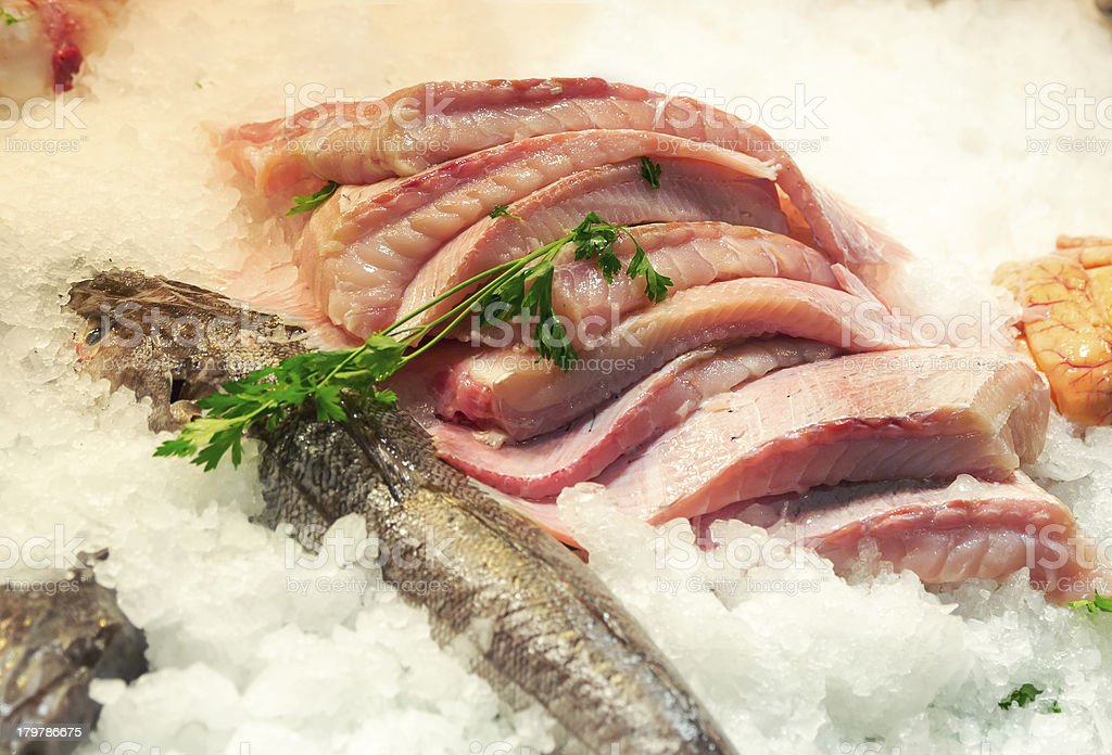 Fillet of fish royalty-free stock photo
