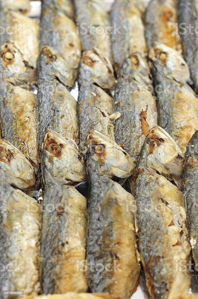 Fillet of mackerel fried royalty-free stock photo