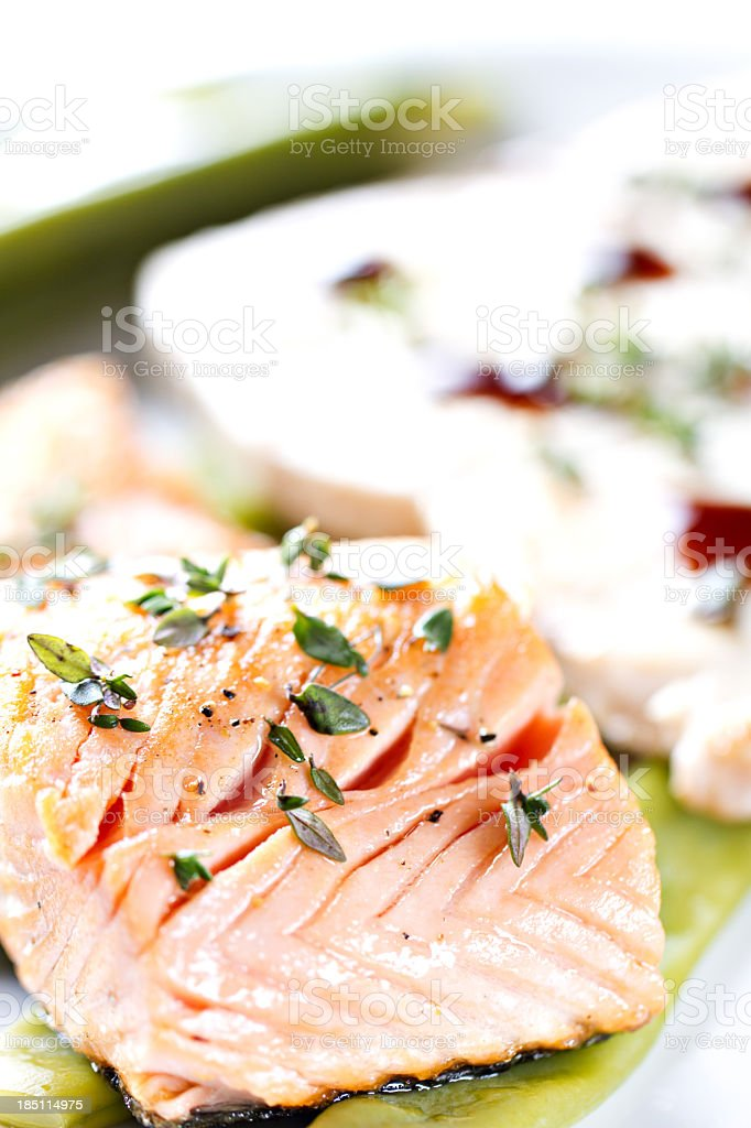 Fillet of Salmon. royalty-free stock photo