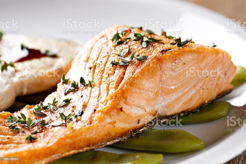 Fillet of Salmon royalty-free stock photo
