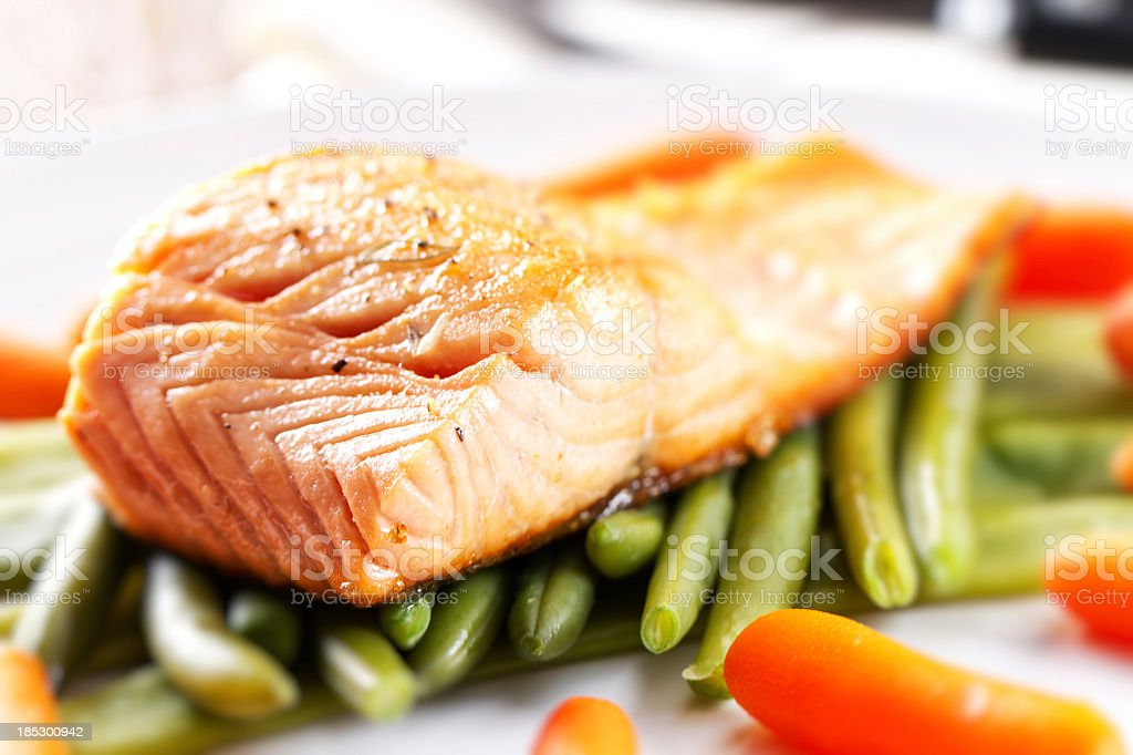 Fillet of Salmon. royalty-free stock photo