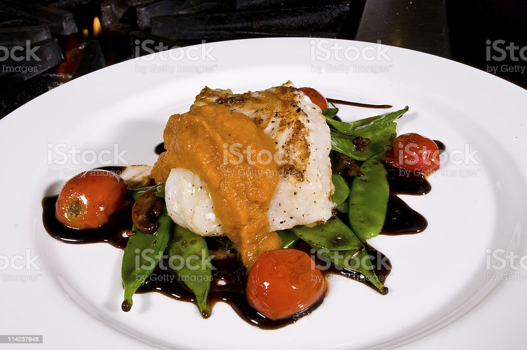 Fillet of Seabass royalty-free stock photo